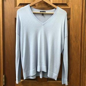 🆕 Eileen Fisher Light Blue V Neck Sweater